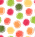 seamless watercolor dots pattern vector image