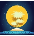 summer island vector image