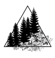 logo with forest trees vector image vector image