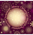 Christmas purple greeting card vector image