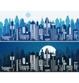 Set of cityscape background vector image vector image