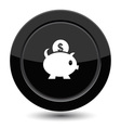 Button with piggy bank vector image