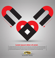 Magnet heart vector image vector image