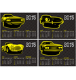 calendar template with cars on carbon background vector image