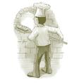Engraved Baker vector image