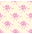 Seamless pattern with pink clover flowers vector image vector image