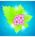 green leaves and flowers vector image