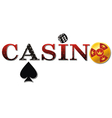 casino sign white vector image vector image
