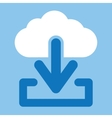 Cloud download icon vector image