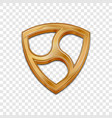 golden nem coin trendy 3d style icon vector image