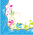 grunge frame with nature vector image
