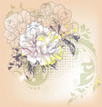Hand drawn of a single flower vector image