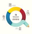 Modern infographics design pencil arrow options vector image