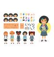 school girl character generator vector image