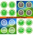 Set of Organic Eco badges vector image