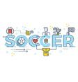 Soccer word lettering vector image