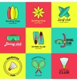 Summer activity set of flat logos vector image