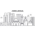 turkey antalia architecture line skyline vector image