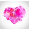 Watercolour heart with love letters vector image