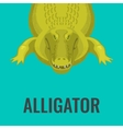 Dangerous green alligator is waiting for lunch vector image vector image