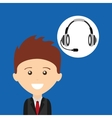 man business headphones for support vector image