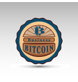 badge with bit coin symbol vector image