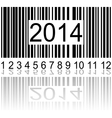 2014 on the barcode vector image