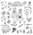groom wedding  doodle vector image