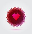 Red abstract heart shape vector image