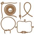 Ropes and Knots vector image