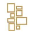 Gold Frame for text picture photo or your design vector image
