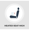 Heated seat icon flat vector image