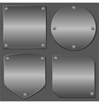 Metal Boards vector image vector image