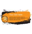 basketball frame vector image