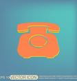 classic retro phone vector image