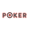 poker logotype with gambling table instead of vector image