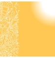 Sunny background with hand drawn ornament vector image