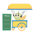 a cart stall and a fruit vector image vector image