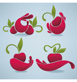 bright cherry juice vector image vector image