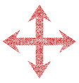expand arrows fabric textured icon vector image