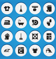 Set of 16 editable cleaning icons includes vector image