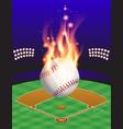 fire baseball field vector image