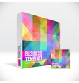 3D Identity box with abstract colorful pattern vector image