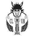 Set logos motorcycle labels badges and design ele vector image