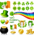 Collection of Saint Patricks Day symbols vector image