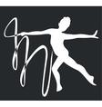 gymnast silhouette black 03 vector image