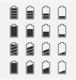 icons battery charge level set vector image