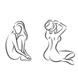 Nudes women in spa vector image