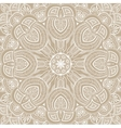 Ornamental round lace background vector image