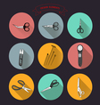 0515 1 for tailors cutting out scissors v vector image
